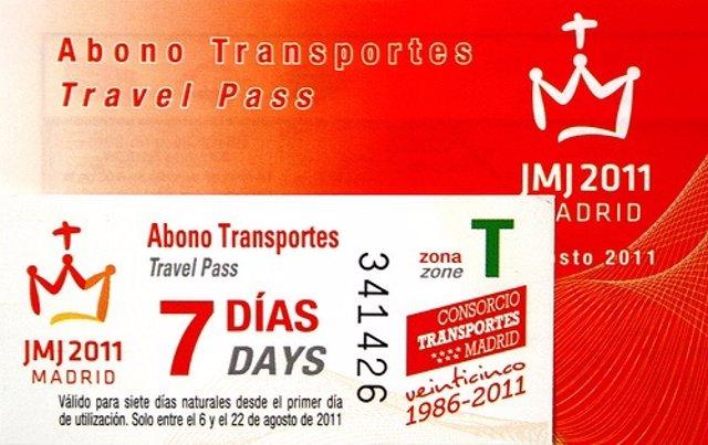 Abono De Transporte Especial De La JMJ
