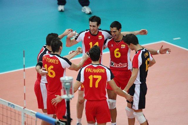 Celebración De Seleccion Española Voleibol