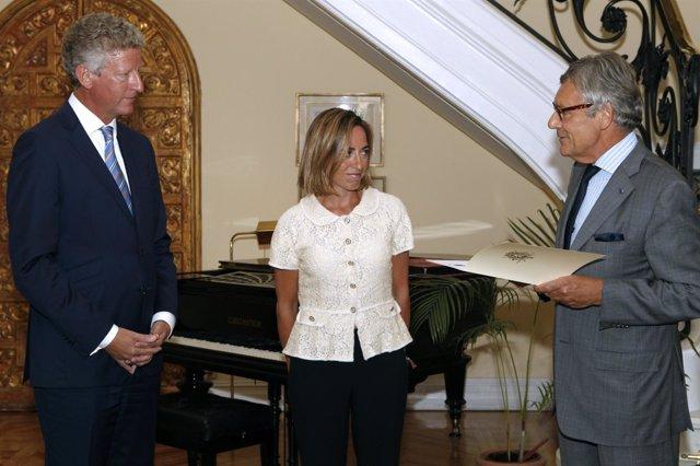 Chacón Con El Embajador De Bélgica
