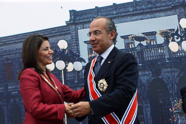 Laura Chinchilla Y Felipe Calderón