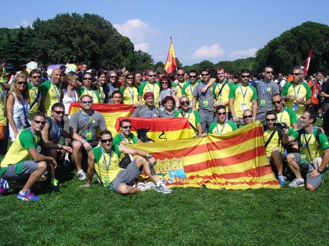 Delegación Aragonesa En Los Juegos Mundiales De Policía Y Bomberos 2011.