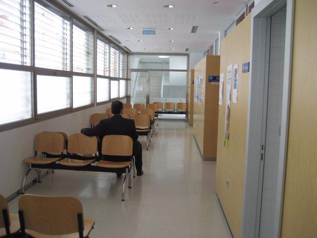 Sala de espera de un centro de salud de Castilla y León.