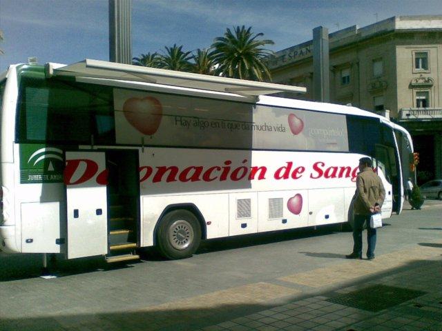 Autobús de donación de sangre