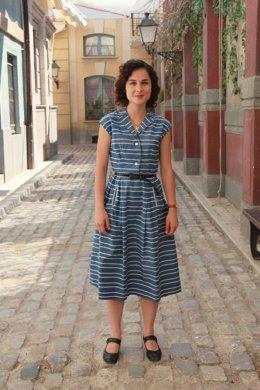 La Actriz Nadia De Santiago En El Plató De 'Amar En Tiempos Revueltos'