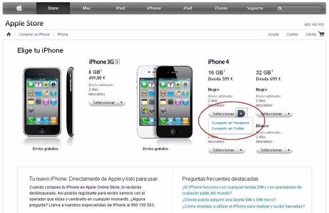 Integración Redes Sociales En La Apple Store