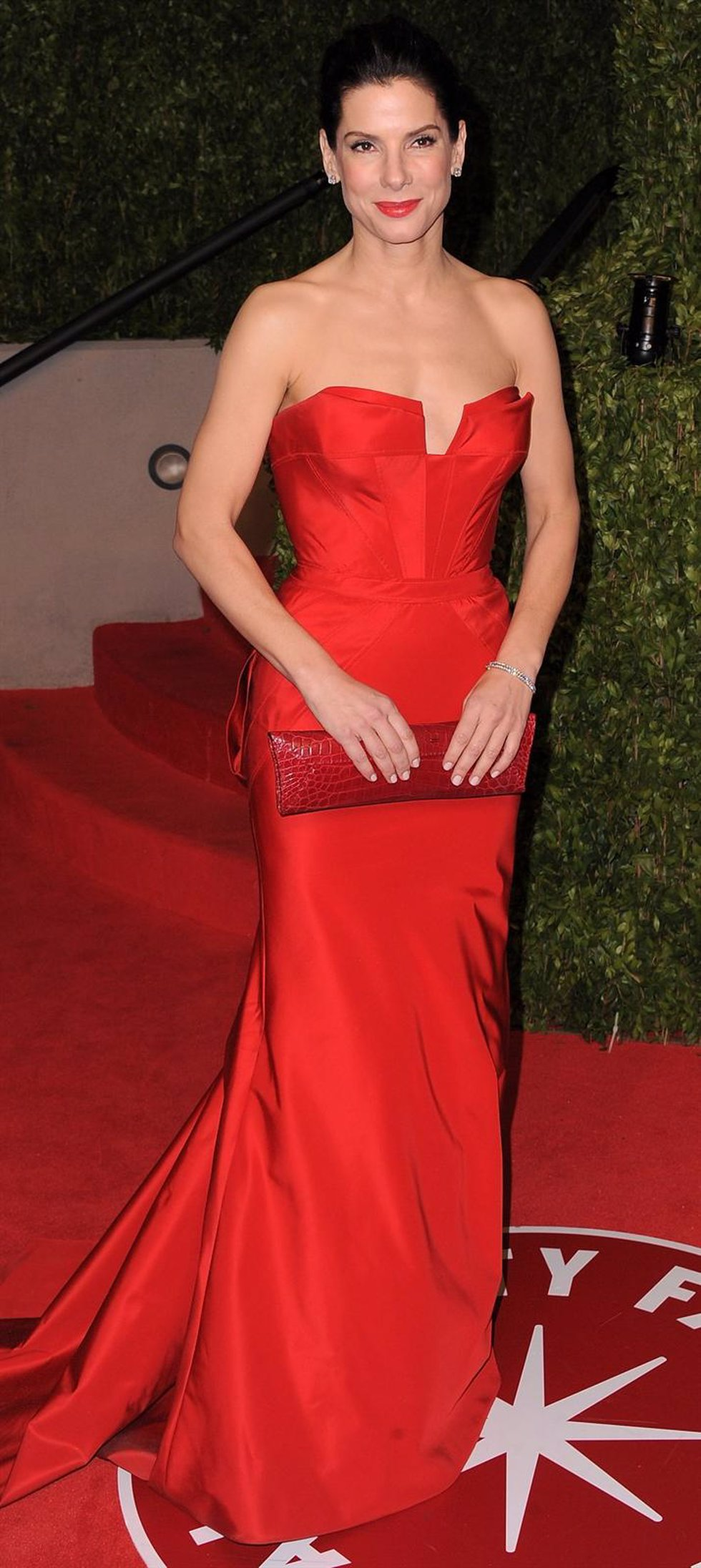 WEST HOLLYWOOD, CA - FEBRUARY 27:  Actress Sandra Bullock Arrives At The Vanity
