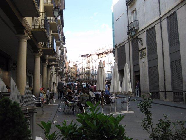 Terrazas en la ciudad de Teruel