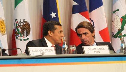 Aznar reafirma ante Humala su apoyo al fortalecimiento de la democracia