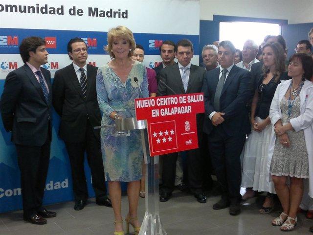 Aguirre Durante La Inauguración Del Centro De Salud De Galapagar