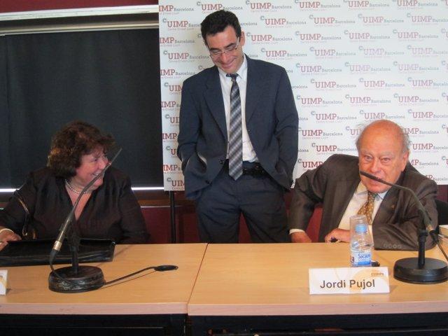 La Demógrafa Anna Cabré Y Jordi Pujol, Ex Presidente De La Generalitat