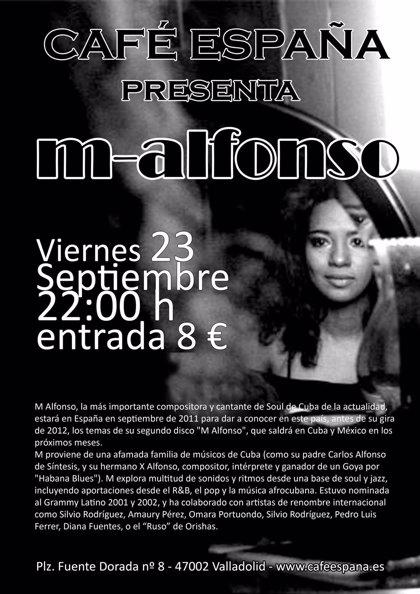 La compositora de Soul cubana M Alfonso presenta mañana su nuevo disco en el Café España de Valladolid