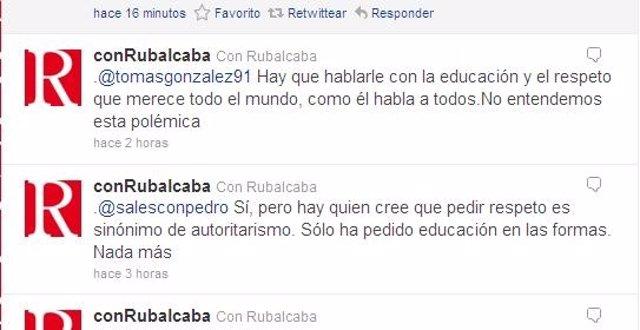 Cuenta De Twitter De Rubalcaba Y Su Equipo