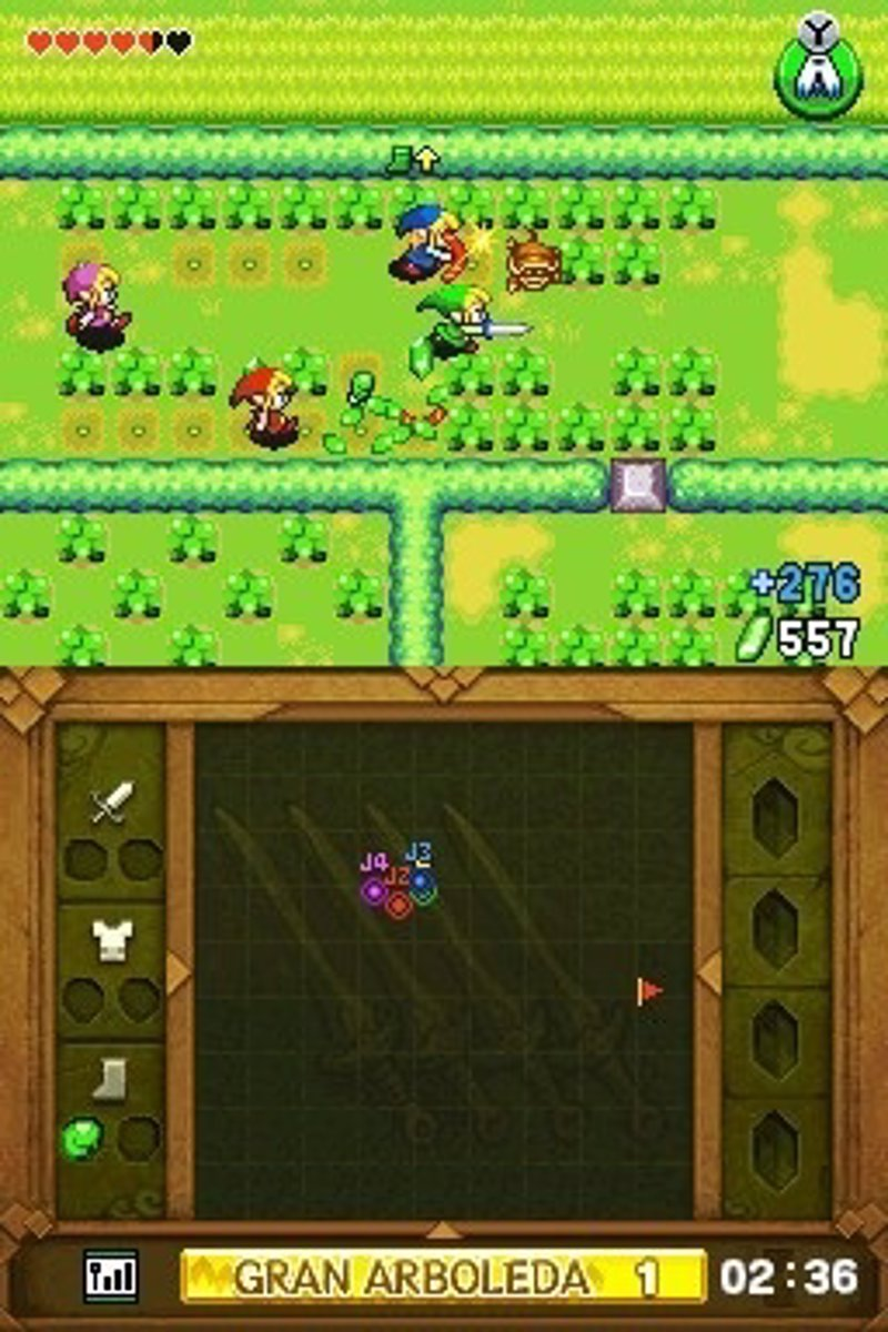 'The legend of Zelda: Four Swords' gratis para Nintendo DSi y 3DS