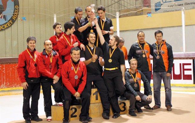 Podio Del Campeonato De España Masculino De Curling