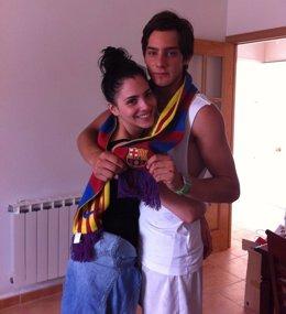 Andrea Duro Y Joel Bosqued Abrazados