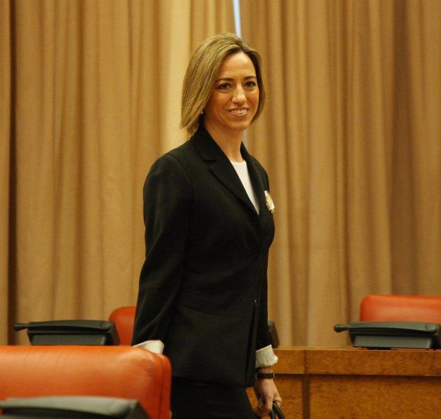 Carmen Chacón, En La Comisión De Defensa Del Congreso