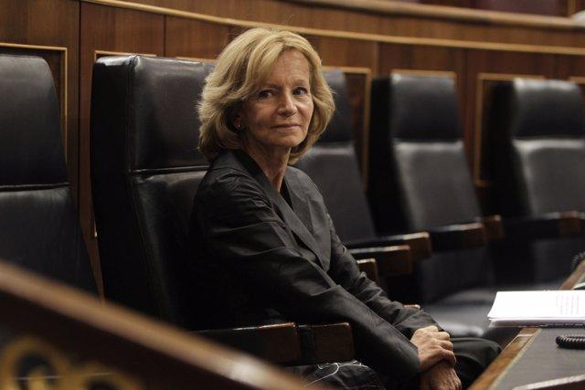 La Ministra De Economía, Elena Salgado, En Su Último Pleno Del Congreso