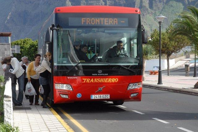 Transporte público en la isla de Hierro