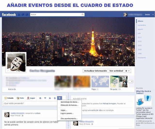 Nuevo 'Timeline' De Facebook