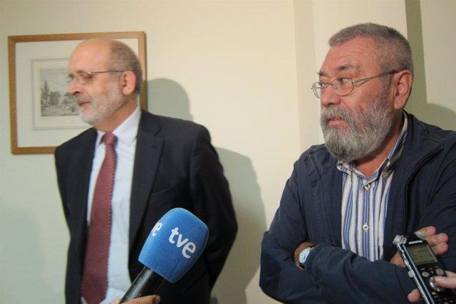 Félix Azón, Vocal Del CGPJ, Y Cándido Méndez, Secretario General De UGT