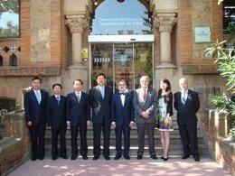 Delegación China Visita La Conselleria De Salud De Catalunya