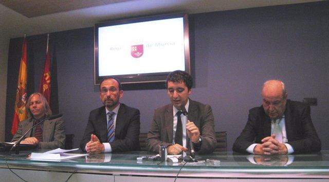 Michael Bartok, Salvador Marín,  Pedro Alberto Cruz y  Jesús Samper