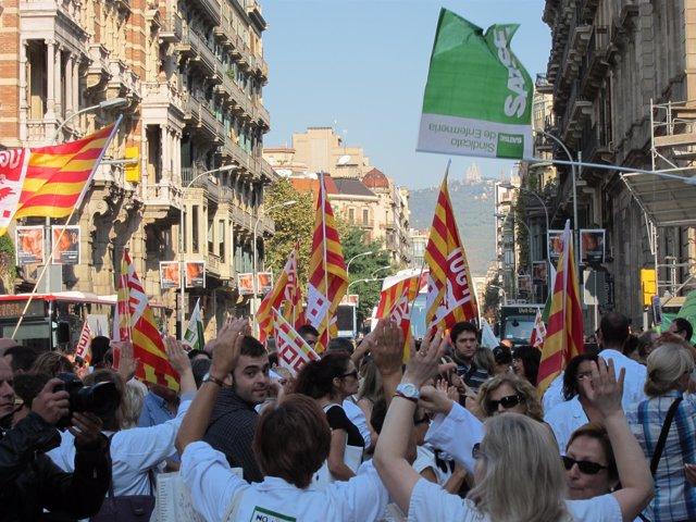 Manifestantes Sanitarios Contra Los Recortes