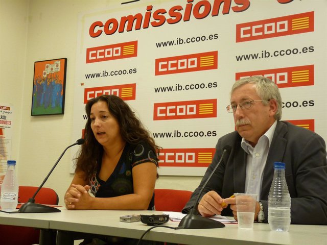 Katiana Vicens E Ignacio Fernández Toxo.