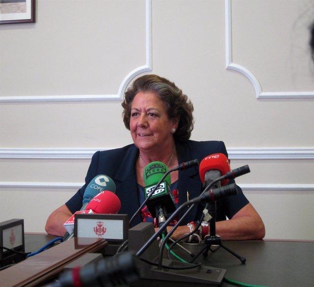 La Alcaldesa De Valencia, Rita Barberá, en imagen de archivo