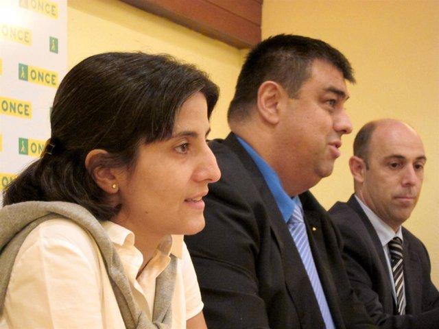 Estefanía Mirpuri, Juan Javier Muñoz Y Félix Caperos, ONCE
