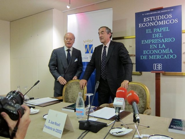 Juan Rosell (CEOE) Y José Luis Feito (IEE)