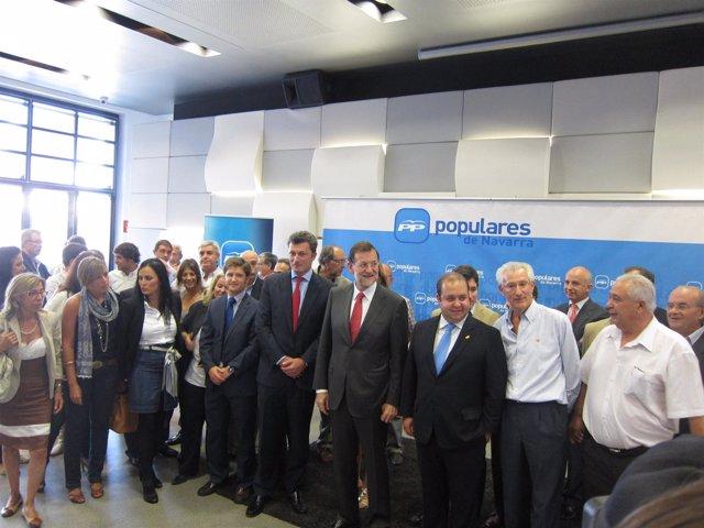 Mariano Rajoy, Con La Dirección Y Concejales Del PPN.