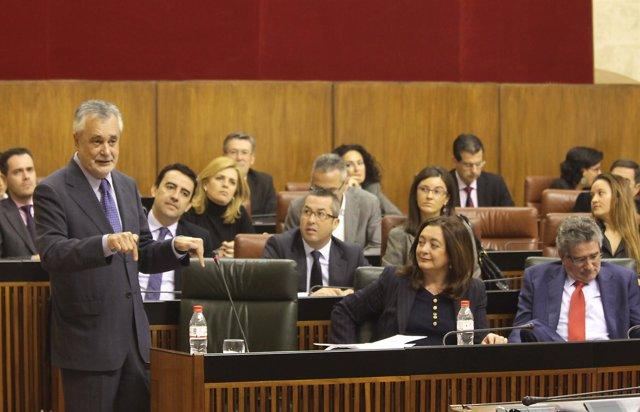 José Antonio Griñán En El Pleno Del Parlamento