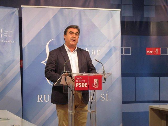 El Diputado Socialista Jesús Navarro En Rueda De Prensa