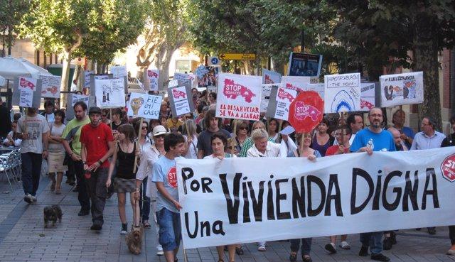 Manifestación Por Una Vivienda Digna En Logroño