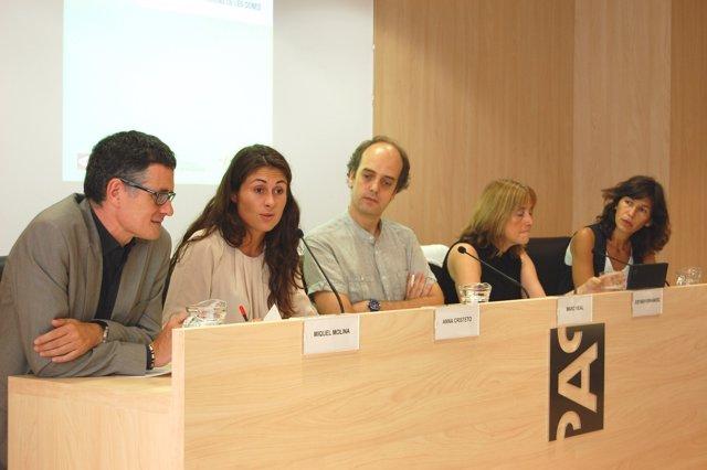 Los Periodistas M. Molina, A. Cristeto, M. Vidal, E. Fernández Y M.Prat