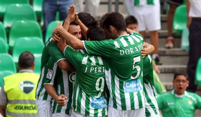 Rubén Castro Celebra Un Gol Del Betis