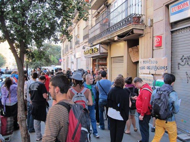 Concentración En La Calle Sant Pau