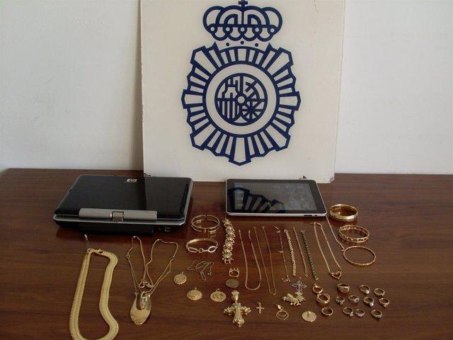 Objetos Robados Intervenidos Por La Policía Nacional.