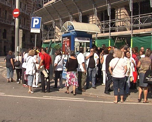 Protesta Sanitaria En Barcelona