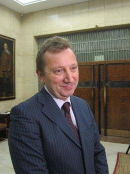 Manuel Recio, Consejero Andaluz De Empleo En Trabajo