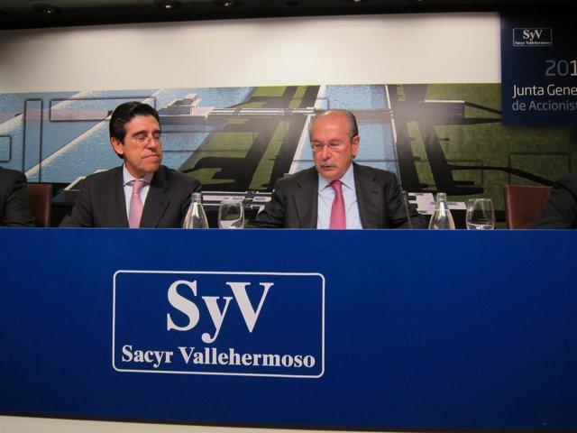El Presidente Y El Consejero Delegado De Sacyr Vallehermoso