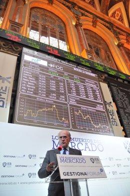 El Presidente De FCC En La Bolsa De Madrid