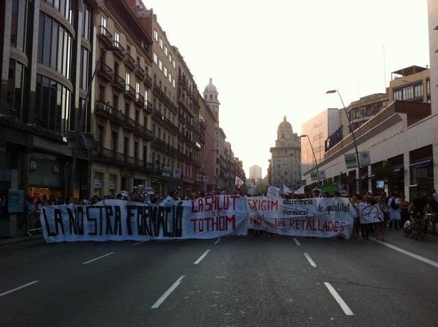 Manifestación Médicos Internos Residentes Contra Los Recortes Sanitarios
