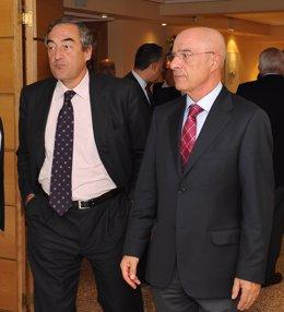 Juan Rosell Con El Presidente De FIAB, Jesús Serafín Pérez