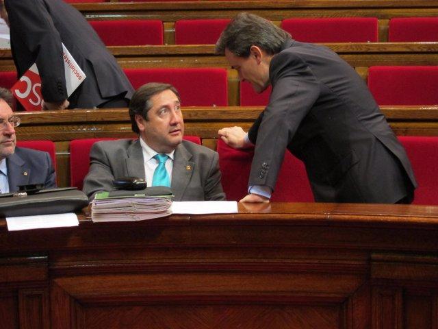 El Conseller J.Mª Pelegrí Y El Presidente Del Govern Artur Mas