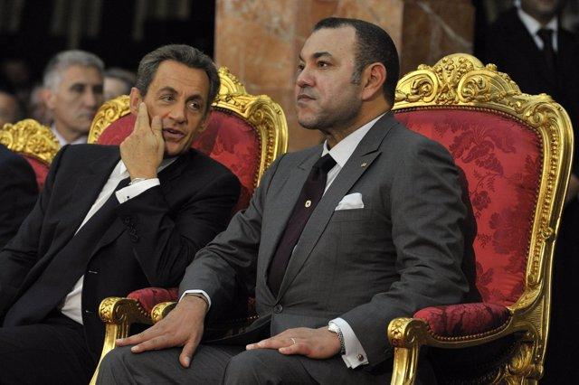 Nicolas Sarkozy Y Su Por Ahora Amigo Mohamed VI