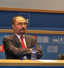 El Secretario General Del PSOE-Zaragoza, Javier Lambán