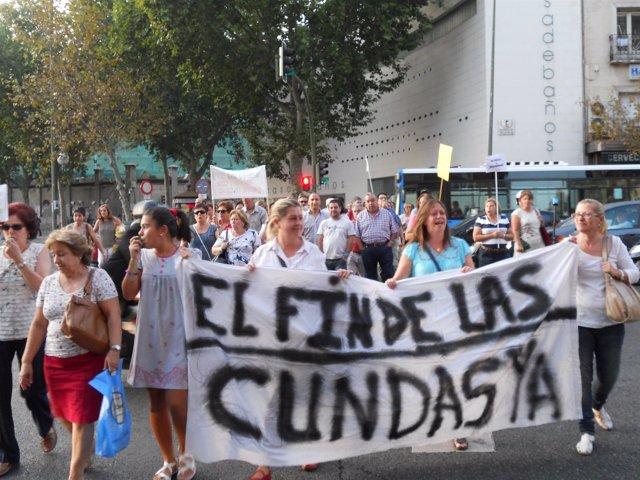 Vecinos De Embajadores Se Manifiestan Contra Las Cundas De La Droga