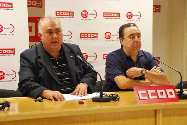 Felipe Falcó (CCOO) Y Antonio Tirado (UGT)